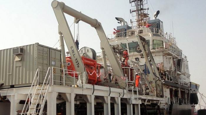 Diving Support Vessel after modifications at Damen Shipyards Sharjah