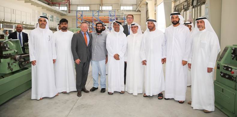 Group photo at the new Dubai Maritime City facility