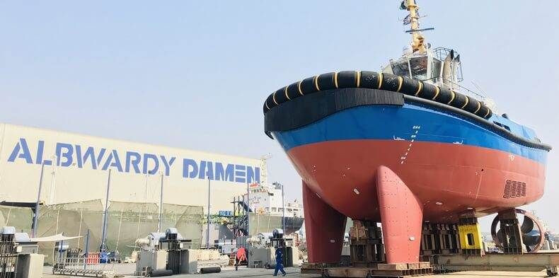 Albwardy Damen is a joint venture between Albwardy Investment of Dubai and the Netherlands-headquartered Damen Shipyards Group.
