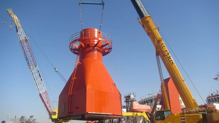 ship crane onboard installation
