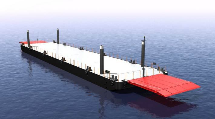 pontoons and barges, options, mooring systems