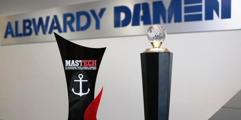 Albwardy Damen received Best UAE Shipyard 2017 and Best New Building Yard awards