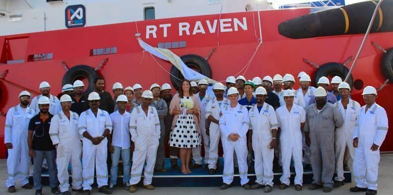 The Infield Support Vessel (ISV) RT Raven is built to a Robert Allen design. She is a customised 46 meter-long, DP2, 100-ton bollard-pull Rotortug® for offshore support.